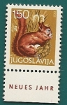 Sellos de Europa - Yugoslavia -  Año nuevo - Naturaleza - Ardilla