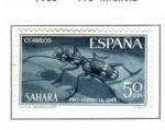 Sellos del Mundo : Europa : España :  SAHARA EDIFIL 242 (11 SELLOS)INTERCAMBIO