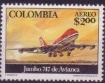 Sellos del Mundo : America : Colombia : jumbo 747 de avianca