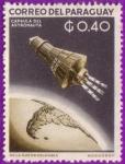 Sellos de America - Paraguay -  Capsula del Astronauta