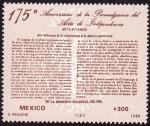 Sellos del Mundo : America : México : 175 aniversario del acta de independencia