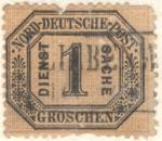 Sellos del Mundo : Europa : Alemania :  Groschen 1870
