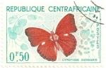 Sellos del Mundo : Africa : Rep_Centroafricana : Mariposa