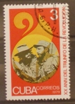 Sellos de America - Cuba -  XX aniversario triunfo de la revolucion