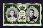 Sellos del Mundo : Europa : Mónaco : ENLACE REAL 19 AVRIL 1956
