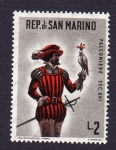 Sellos del Mundo : Europa : San_Marino : FALCONIERE SEC. XVI