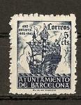 Sellos del Mundo : Europa : España : 450 Aniversario de la llegada de Colon a Barcelona.