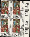 Sellos de Europa - España -  Vidrieras Artísticas - catedral de Girona  +  bandeleta Expo Mundial Filatelia