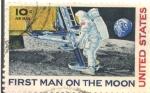 Sellos del Mundo : America : Estados_Unidos : FIRST MAN ON THE MOON