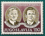 Sellos de Europa - Yugoslavia -  Centenario nacimiento de Yugoslavia -  personajes