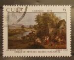 Sellos de America - Cuba -  obras de arte museo nacional, una reunion festiva, sir david wilkie