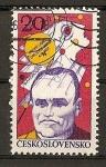 Sellos de Europa - Checoslovaquia -  Exposicion del Cosmos - S.P. Koroljov.