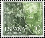 Sellos del Mundo : Europa : España : III centenario de la muerte de Velázquez