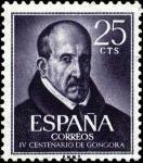 Sellos del Mundo : Europa : España : IV centenario del nacimiento de Luí de Góngora y Argote