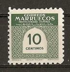 Sellos de Africa - Marruecos -  Cifras.