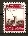 Sellos de Africa - Marruecos -  Paisajes y Avion.
