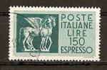 Sellos de Europa - Italia -  Correo Urgente - Arte Etrusco (Museo de Tarquinia.)