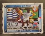 Sellos del Mundo : Asia : Corea_del_norte : copa de oro, final. uruguay 2 brasil 1 futbol