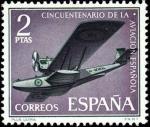 Sellos del Mundo : Europa : España : L Aniversario de la Aviación Española