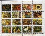 Sellos de Asia - Emiratos Árabes Unidos -  Pinturas  famosas de la vida de Cristo