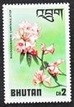 Sellos del Mundo : Asia : Bhután : Rhododendron Campanulatum