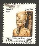 Sellos de Africa - Egipto -  1591 - faraón Amenhotep III