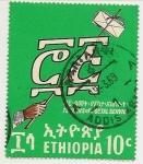 Sellos de Africa - Etiopía -  75° del Servicio Postal