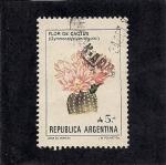 Sellos del Mundo : America : Argentina : Flor de Cactus