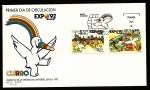 Sellos de Europa - España -  Exposición universal  Sevilla  92 - Curro mascota de la expo -SPD