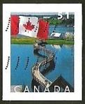 Sellos del Mundo : America : Canadá : BANDERA - PAISAJE - PUENTE