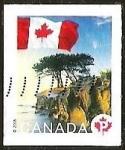 Sellos del Mundo : America : Canadá : BANDERA - PAISAJE - ARBOL