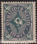 Sellos del Mundo : Europa : Alemania : Alemania 1922 Scott 184 Sello ** Post Horn 50 Deutsches Reich Allemagne Germany Germania Deutschland