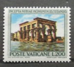 Sellos de Europa - Vaticano -  SALVAGUARDA DE LOS MONUMENTOS DE NUBIA