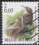 Sellos del Mundo : Europa : Bélgica : Belgica 2000 Scott 1786 Sello º Aves Oiseaux Grimpereau de Jardins 2fr Belgique Belgium