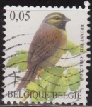 Sellos del Mundo : Europa : Bélgica : Belgica 2005 Scott 2072 Sello º Aves Oiseaux Bruant Zizi Cirlegors 0,05€ Belgique Belgium