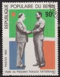 Sellos del Mundo : Africa : Benin : Benim 1983 Scott 538 Sello * Visita del Presidente Frances François Mitterrand 90fr Preobliteré Mata