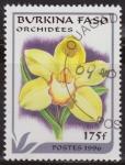 Sellos del Mundo : Africa : Burkina_Faso : Burkina Faso 1996 Scott 1084 Sello º Flora Orquideas Orchidees 175Fr Ex Alto Volta