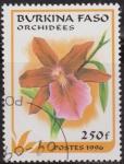 Sellos del Mundo : Africa : Burkina_Faso : Burkina Faso 1996 Scott 1085 Sello º Flora Orquideas Orchidees 250Fr Ex Alto Volta