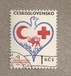 Sellos del Mundo : Europa : Checoslovaquia : 50 Aniv. Liga Cruz roja y Media Luna roja