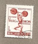 Sellos de Europa - Hungría -  Levantamiento de disco