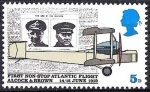 Sellos del Mundo : Europa : Reino_Unido : Gran Bretaña 1969 Scott 584 Sello ** Alcock Brown, Daily Mail & Vickers Vimy Plane Raids aériens de