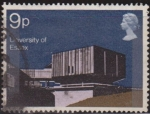 Sellos del Mundo : Europa : Reino_Unido : Gran Bretaña 1971 Scott 660 Sello º Edificios Modernos Restaurante Exagono Universidad de Essex Gran