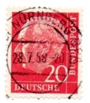 Sellos del Mundo : Europa : Alemania : 1953-54(70° ANIVERSARIO PRESIDENTE THEODORE HEUSS)