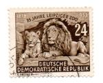 Sellos del Mundo : Europa : Alemania : 1953-75°ANIVERSARIO ZOOLOGICO de LEIPZIG.(FILI P)