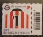 Sellos del Mundo : Asia : Singapur : 100 AÑOS F.I.F.A.