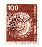 Sellos del Mundo : Europa : Alemania : 1975-1976-EXCAVADORAS