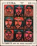 Sellos del Mundo : America : Cuba : Obras de Arte del Museo Nacional. Fénix de Raúl Martinez.