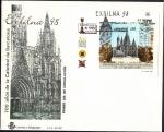 Sellos de Europa - España -  Exfilna 98 - 700 años de la catedral de Barcelona HB - SPD