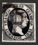 Sellos del Mundo : Europa : España : Isabel II - 6 c.