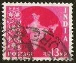 Sellos del Mundo : Asia : India : MAPA DE LA INDIA